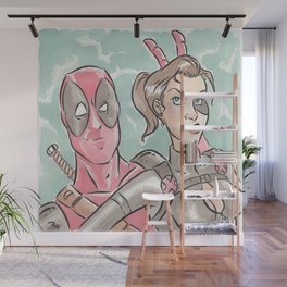 The Lady and The Merc Wall Mural
