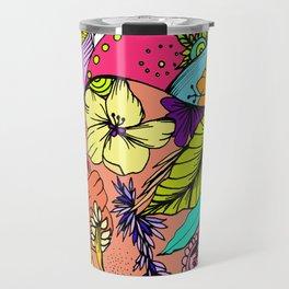 Corazón con flores Travel Mug