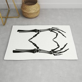 Black Heart of Bones Rug