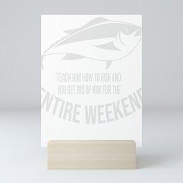 Fishing Fisherman For Men Fish Gift Mini Art Print