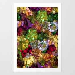 Gorgeous Gems Art Print