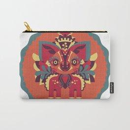 Fantasy Fox Fawn - Folk Art Carry-All Pouch