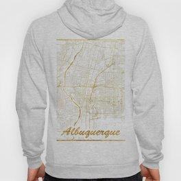 Albuquerque Map Gold Hoody