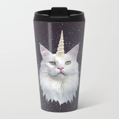 Unicorn Cat Metal Travel Mug