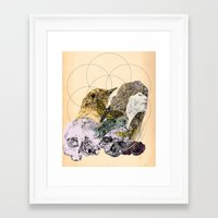 sacred geometry Framed Art Prints featuring Sacred by Ashley Payne