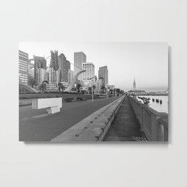San Francisco Downtown- BW Metal Print
