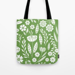 Blooming Field - green Tote Bag