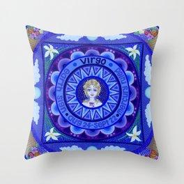 Astrological Sign of Virgo Throw Pillow