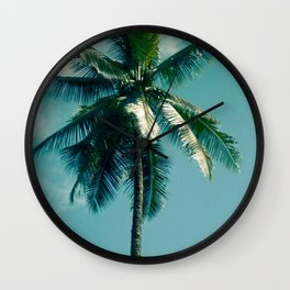 Niu Hawaiian Tropical Coconut Palm Tree Keanae Maui Hawaii Wall Clock