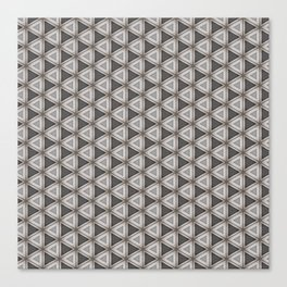 Chrome steel with leather effect pattern Canvas Print