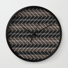 Non-conformist Black Chevron Pattern #society6 Wall Clock