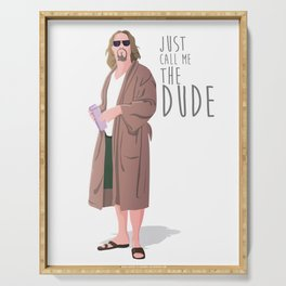 the dude, the big lebowski Serving Tray