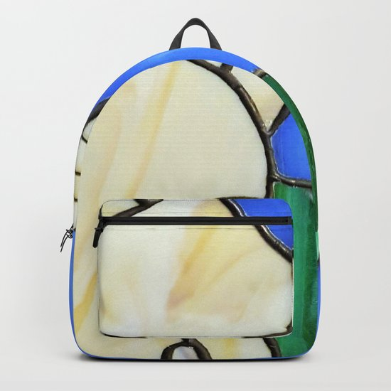 Stain glass cat Backpack