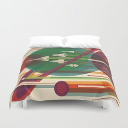 The Grand Tour : Vintage Space Poster Duvet Cover