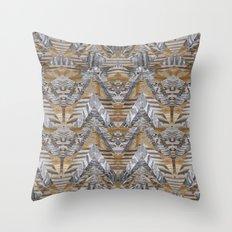 Wood Quilt 2 Throw Pillow