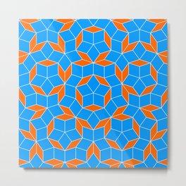 Penrose Tiling Pattern Metal Print