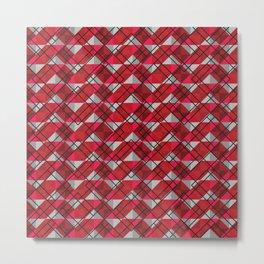 Zigzag Pattern Metal Print