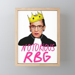 ruth bader ginsburg notorious rbg justice supreme court usa scotus Framed Mini Art Print
