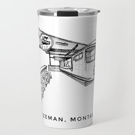 Bozeman Montana Sketch Print Travel Mug