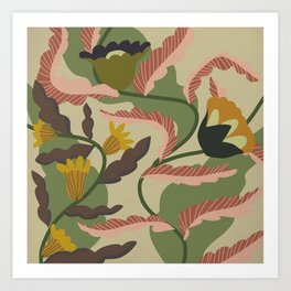 Maybe a Curtain From a 70s House Art Print