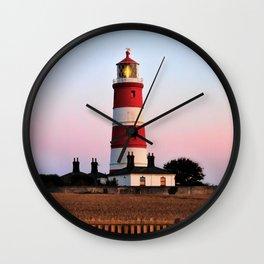 Happisburgh lighthouse shining Wall Clock