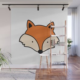 Simple red fox Wall Mural