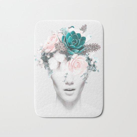 Woman floral Bath Mat