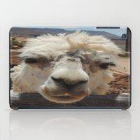 lama iPad Cases featuring Lama  by Ricarda Balistreri
