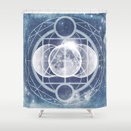 Alchemy: Lunar Phases Shower Curtain