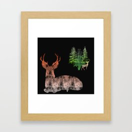 Woodland Deer Framed Art Print