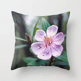 Mountain forest flower Throw Pillow