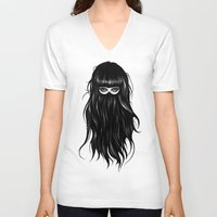 ruben V-neck T-shirts featuring It Girl by Ruben Ireland