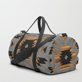 Urban Tribal Pattern No.6 - Aztec - Concrete and Wood Sporttaschen