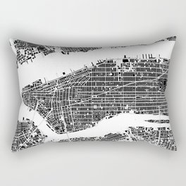 New York city map black and white Rectangular Pillow