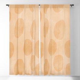 Orange Painting Pattern Blackout Curtain