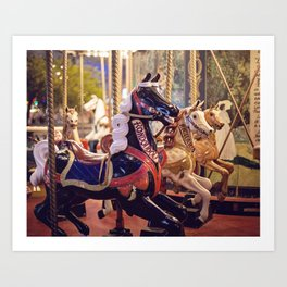 Paris Carousel Art Print