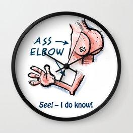 Ass & Elbow Wall Clock