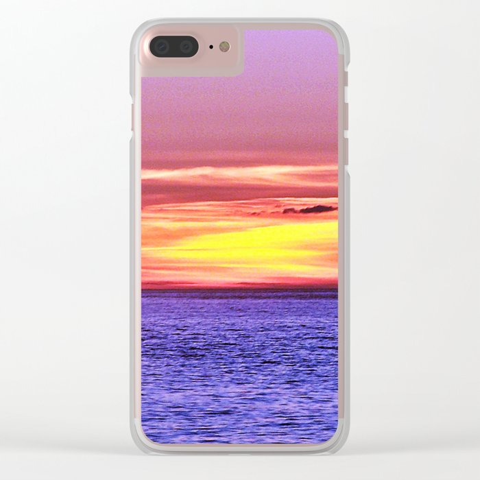 Saturated Sunset Delight Clear iPhone Case