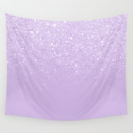 Modern pastel purple lavender ombre glitter color block Wall Tapestry