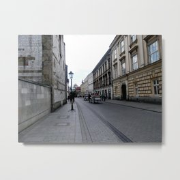 Horse Carriage in Krakow, Poland Metal Print