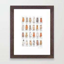 Cats of The World Framed Art Print