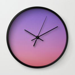 Red Purple Wall Clock