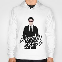 darren criss Hoodies featuring Pink Darren Criss by byebyesally