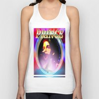 prince Tank Tops featuring PRINCE  by KEVIN CURTIS BARR'S ART OF FAMOUS FACES