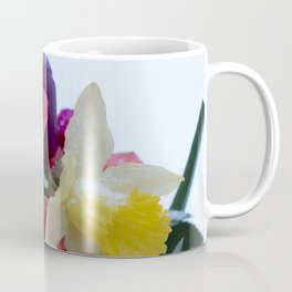 Vibrant bouquet of flowers in the snow Coffee Mug