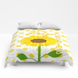 Inspired Sunshine Quote Comforters