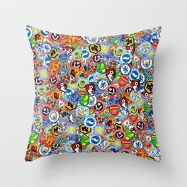 Premier League stickerbombing Throw Pillow