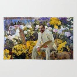 """Joaquín Sorolla y Bastida """"Portrait of Louis Comfort Tiffany"""", 1911 Rug"""
