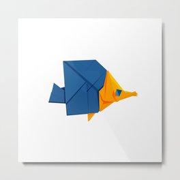 Origami Fish Metal Print