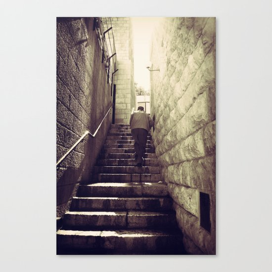 Old City Steps, Jerusalem Canvas Print